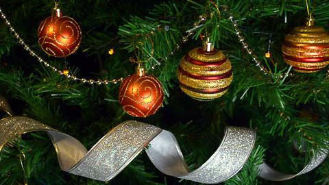 Christmas tree balls Footage