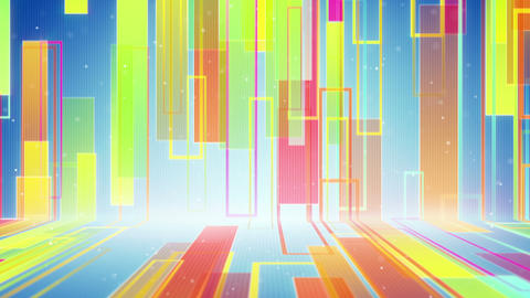 moving multicolor rectangulars loopable background Animation