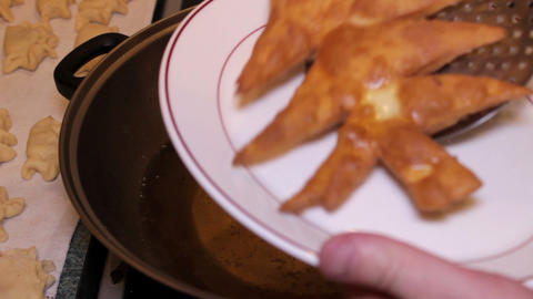 Christmas Goodies - Christmas Tree Shaped Pastry T stock footage