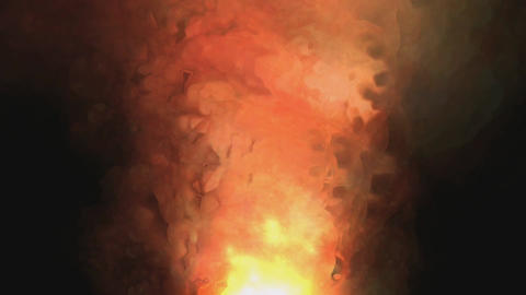Digital Animation Of A Flaming Fire stock footage