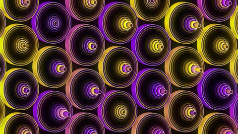 Neon Pattern 003 B Beat Wave TC Animation