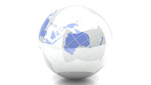 Spinning Globe stock footage