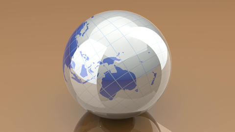 Spinning Globe Animation