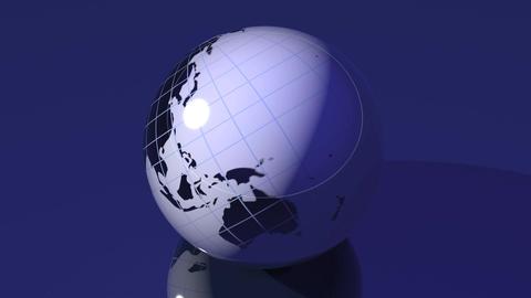 Spinning Globe Animation