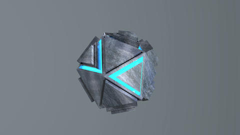 Spinning metal ball Animation