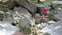 Bicycle stunts. Bike jumping 7 Live Action