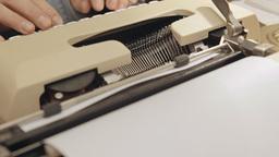Typewriter dutch angle 1 Footage