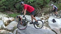 Bicycle Stunts. Bike Jumping 11 stock footage