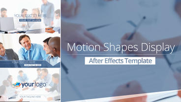 Motion Shape Display - After Effects Template After Effects Template