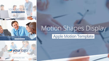 Motion Shape Display - Apple Motion and Final Cut Pro X Template Plantilla de Apple Motion