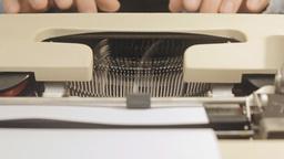 Typewriter front view 1 Footage