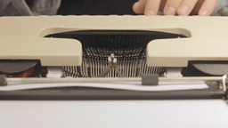Typewriter front view 2 Footage