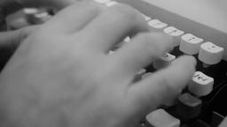 Typewriter keys detail noir Footage