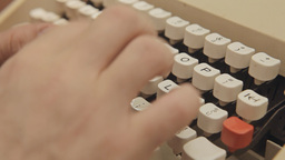 Typewriter keys detail Footage