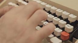 Typewriter keys detail Footage