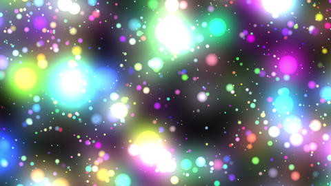 Bright Multicolored Glowing Starfield Loop 2 rotat Animation
