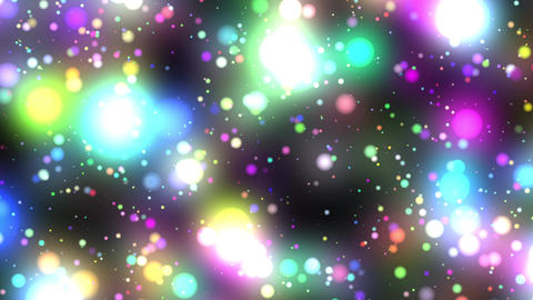 Bright Multicolored Glowing Starfield Loop 2 Animation