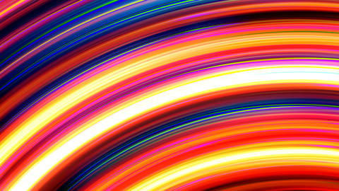 Abstract Rainbow Light Streaks Loop Animation