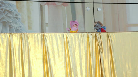 Puppet show on the screen Live Action