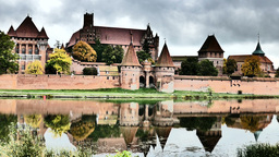 Teutonic Order castle in Malbork Footage