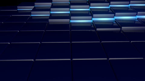 Moving Neon Floor stock footage
