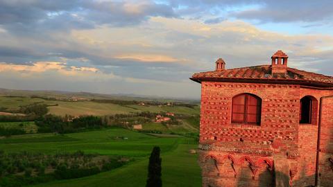Pan shot of a castle, Castello Live Action