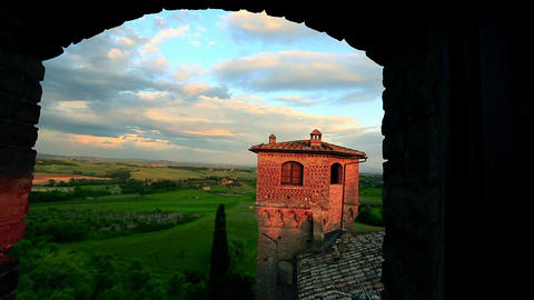 Zoom In Shot Of A Castle, Castello stock footage