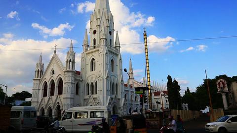 Locked-on shot of a church, St. Thomas Church, Myl Live Action