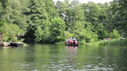 Boat trip by channel of Spreewald Live Action