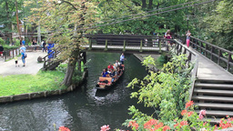 Boat tour at the channel in Lehde. Spreewald Live Action