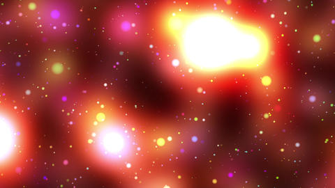 Warm colorful spheres stars loop 2 rotate right Animation