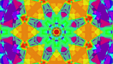 Fast Colorful Kaleidoscope VJ Background Loop 1 stock footage