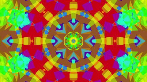 Fast Colorful Kaleidoscope VJ Background Loop 2 CG動画