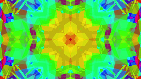 Fast Colorful Kaleidoscope VJ Background Loop 5 Animation