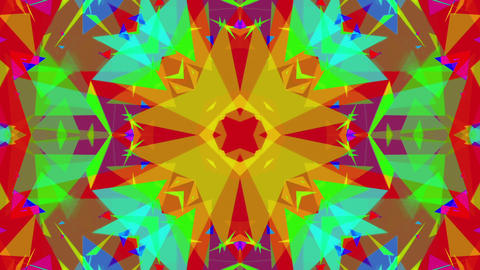 Fast Colorful Kaleidoscope VJ Background Loop 7 Animation