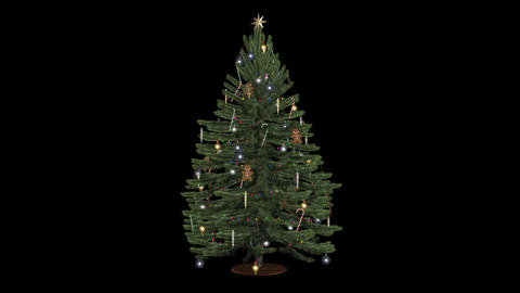 Christmas Tree With Toys and Lights - Green - Spin Animation