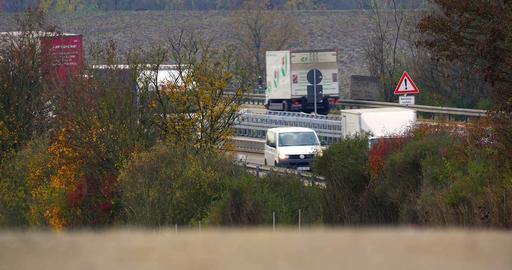 4K, Traffic on german Autobahn, Cars and Trucks Footage