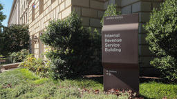 IRS Internal Revenue Service Building stock footage