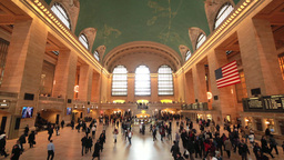 Commuter Crowd People In Grand Central Terminal St stock footage