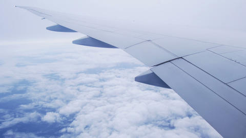 View From The Airplane Window stock footage