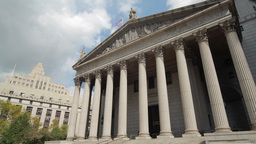New York City Supreme Court Courthouse Building Ti stock footage