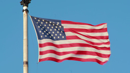 American Flag Stars And Stripes Waving stock footage