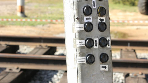 Control Panel On Railway Station stock footage