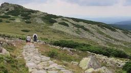 Mountain Trail In Karkonosze Mountains stock footage