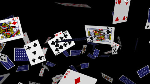 Poker Cards Explosion - 01 - Alpha stock footage