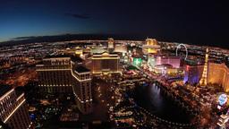 Las Vegas Night Strip View Wide Pan Across stock footage