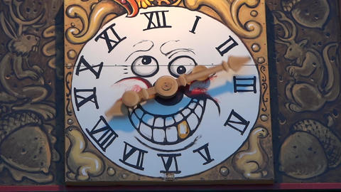 Magic Clock With Crazy Hands Footage