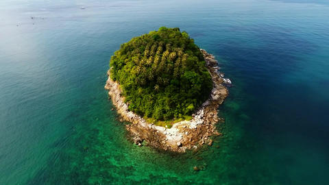 Tropical Island. Aerial Shot. 2