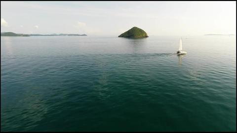 Tropical island. Aerial shot Footage