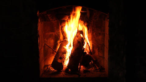 Fireplace stock footage